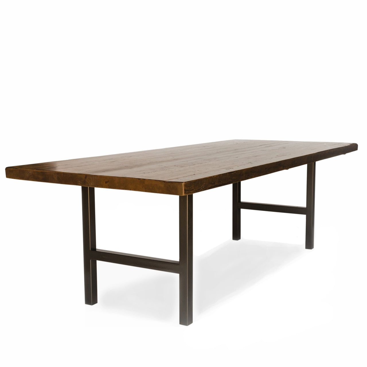 Urban Wood And Steel Conference Table with Narrow Base Style