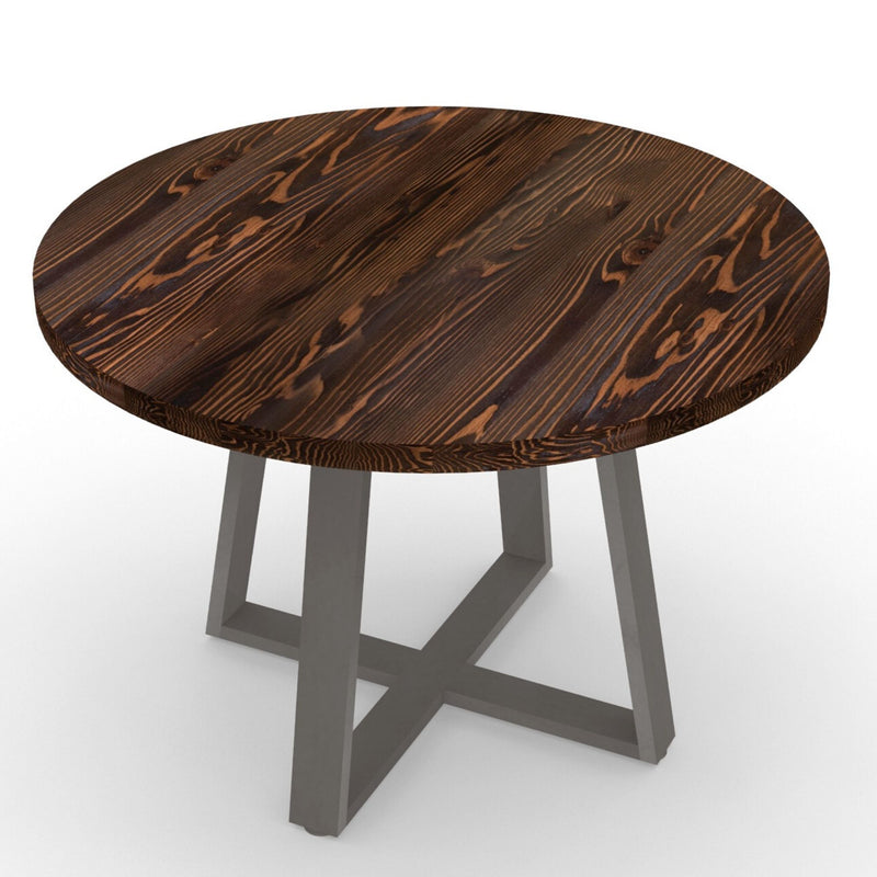 Criss Cross Reclaimed Wood Dining Table