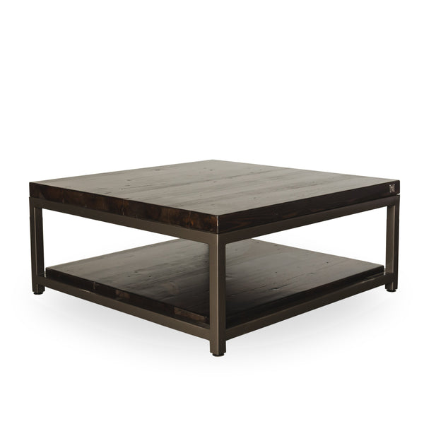 Sustainable Urban Wood and Steel Coffee Table