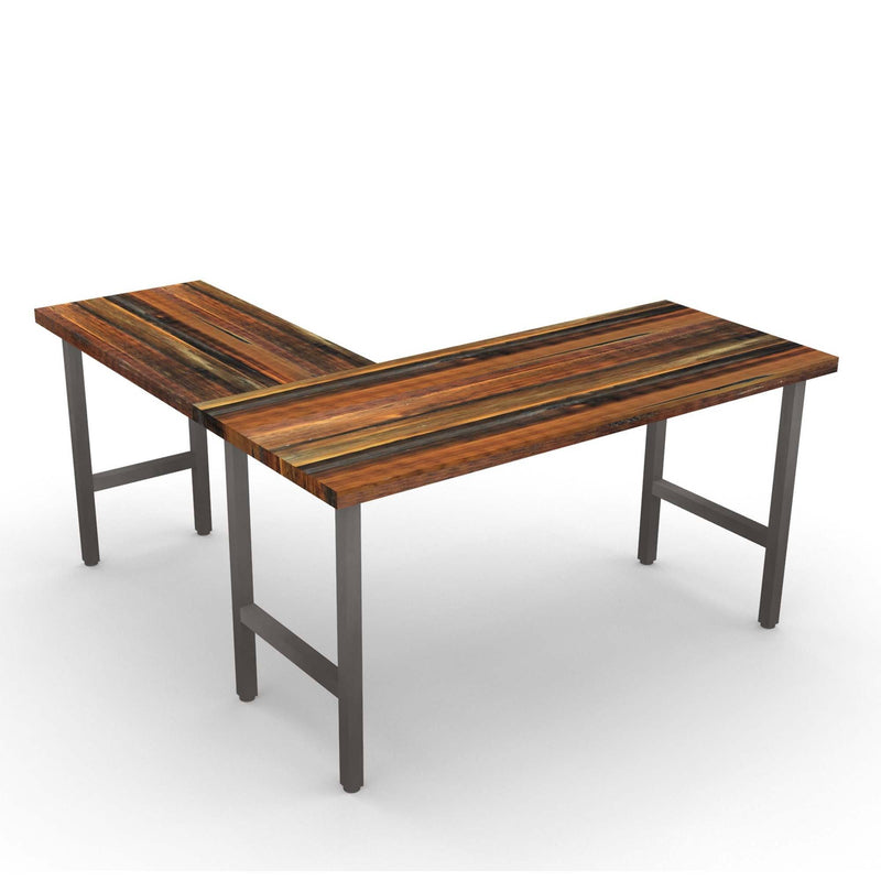 Urban Wood & Steel L Desk