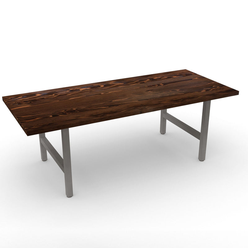 Urban Wood and Steel Dining Table