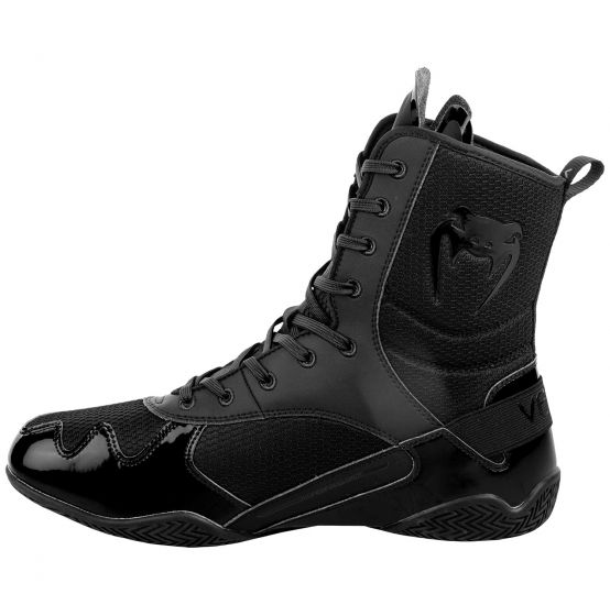 VENUM ELITE BOXING SHOES BLACK BLACK