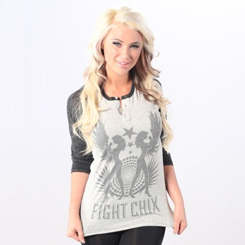 FIGHTCHIX Tribal Wing 3/4 sleeve Unisex T-Shirt