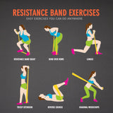 ALTITUDE 5 Piece Latex Resistance Bands