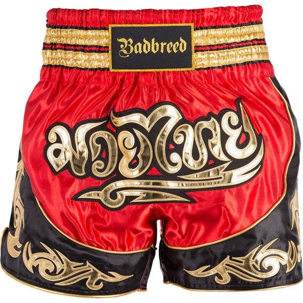 BADBREED Python Polyester Muay Thai Trunks - Red Edition : Large {34} <|||>