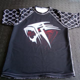 WARPATH Caged Tiger™ Short-sleeve Rashguard - Black [MADE TO ORDER] <||>