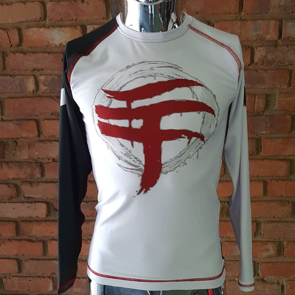 WARPATH Omegalon™ BJJ Ranked Long-sleeve Rashguard - White Belt (