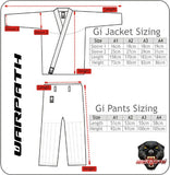 WARPATH Furo™ (Flow) BJJ Gi - Size Chart