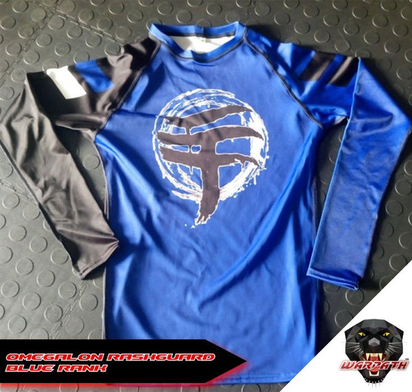 WARPATH Omegalon BJJ Ranked Rashguard - Blue Belt