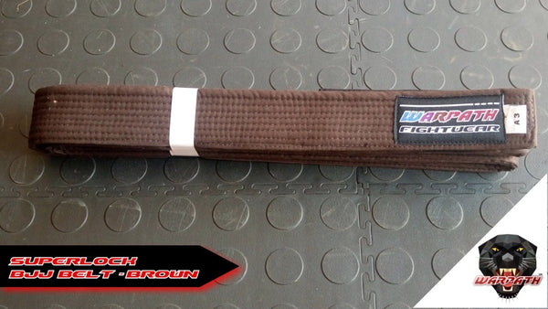WARPATH Superlock™ BJJ Belt - Brown Rank