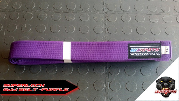 WARPATH Superlock™ BJJ Belt - Purple Rank