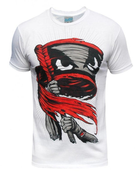 BADBOY Battle Cry Cotton T-Shirt - White : Large [BACK ORDER]