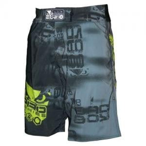 BADBOY Matrix Fightshorts - Grey & Charcoal [BACK ORDER]