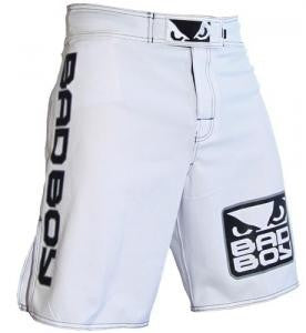 BADBOY World Class Pro 2.0 Fightshorts - White : XXL {38} [BACK ORDER]