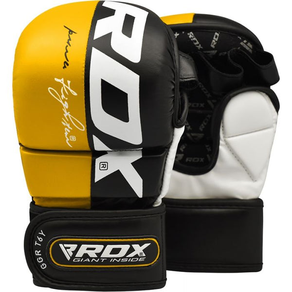 RDX T6 MMA 7oz Sparring Gloves - Yellow