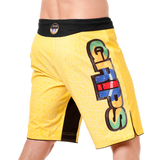 GRIPS Croco Fightshorts - Yellow : Large {34} [BACK ORDER] <|||>