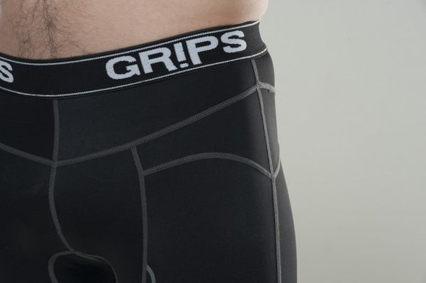 GRIPS Hot Muscle Compression Shorts - Black [BACK ORDER]