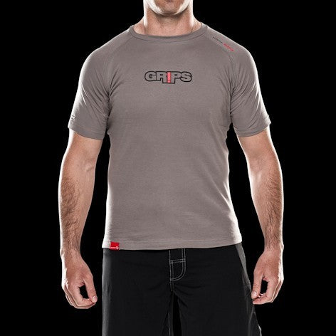 GRIPS Everyday Warrior Pima Cotton T-shirt - Grey [BACK ORDER]