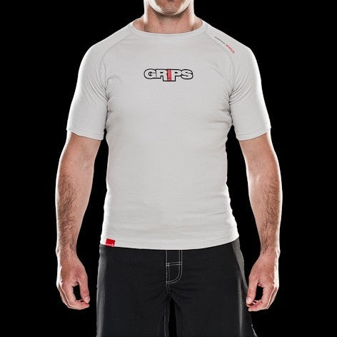 GRIPS Everyday Warrior Pima Cotton T-shirt - White [BACK ORDER]