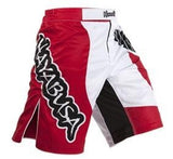HAYABUSA Chikara Fightshorts - Red/White : XXL {38} [BACK ORDER]