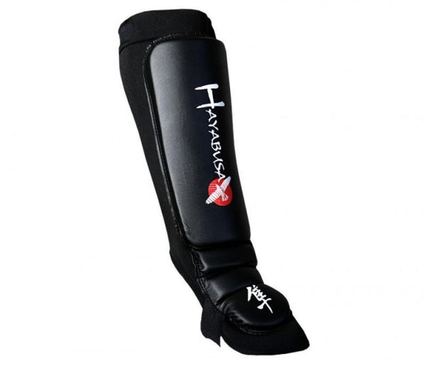 HAYABUSA MMA In-step Grappling Shin Guards - Black : Small/Medium [BACK ORDER] {|||}