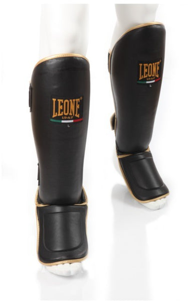 LEONE1947 Muay Thai Style Shin Guards - Black