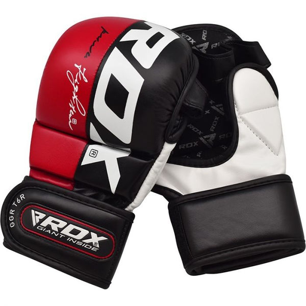 RDX T6 MMA 7oz Sparring Gloves - Red
