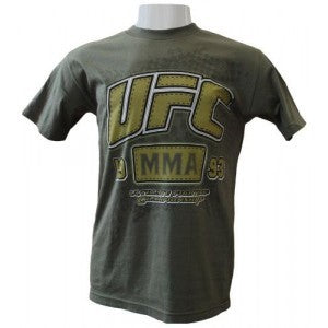 UFC MMA 93 Cotton T-Shirt - Olive Drab : XXL [BACK ORDER] {*|}