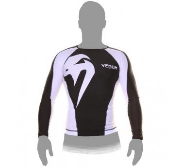 VENUM Giant Long-sleeve Rashguard - Black & White [BACK ORDER] {||||}