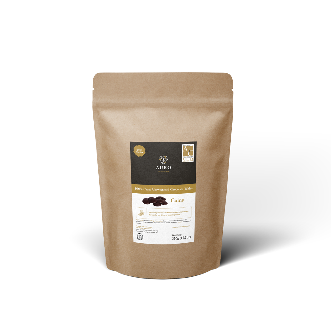 100% Cacao Unsweetened Chocolate Tablea 150G Coins