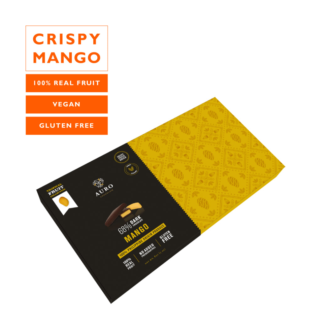 Auro Vegan Dark Chocolate Coated Freeze Dried Mango