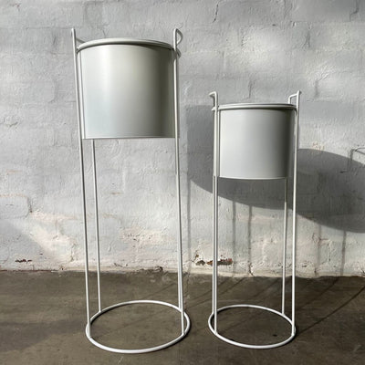 Luna Metal Plant Stand | White | Large |