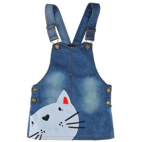 Denim Kitty Overall Dress