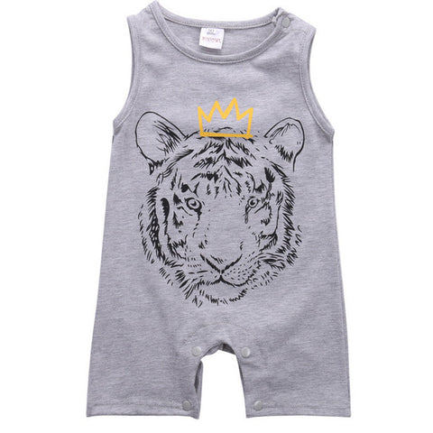 Hear Me Roar Tiger Printed Romper
