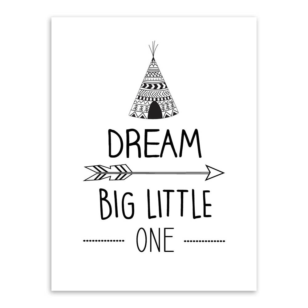 Wonderful Dream Big Little One Canvas Art Poster – Laboutinie DI87