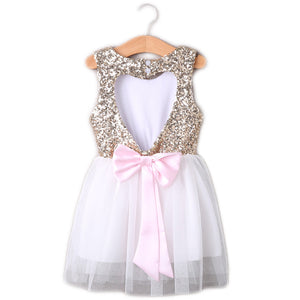 Open Heart Back Sequin Dress