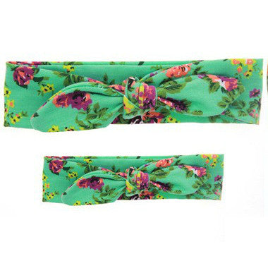 Mommy & Me Headband Set (Mint Floral)