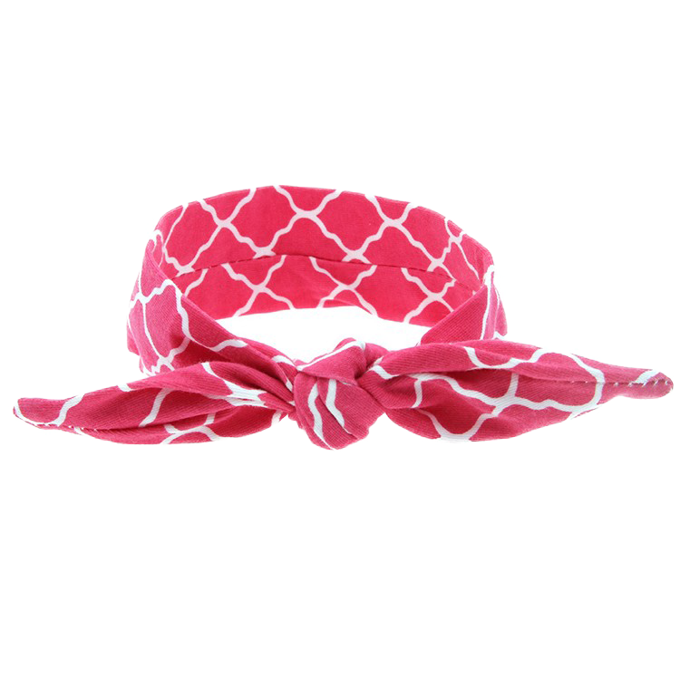 The Isabella Headband (Pink Quatrefoil)