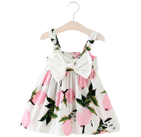Lemon Bow Sundress (Pink)
