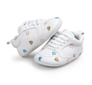 Baby Soft Sole First Walkers PU Leather (Hearts)