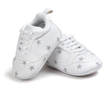 Baby Soft Sole First Walkers PU Leather (Stars)