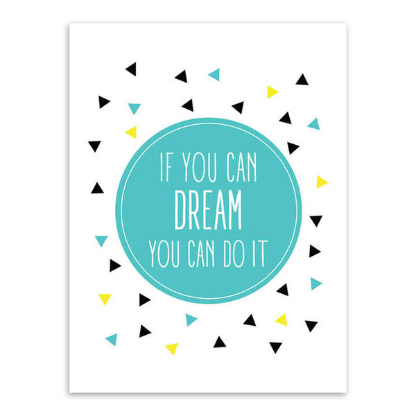 If You Can Dream Canvas Art Poster