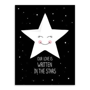 Our Love Is Written In The Stars Canvas Art Poster