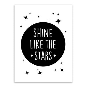 Shine Like The Stars Canvas Art Poster