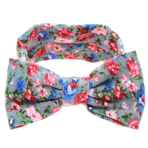 The Sophia Headband (Dusty Blue Floral)