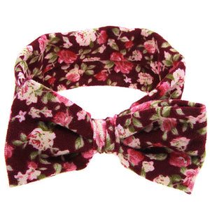 The Sophia Headband (Burgundy Floral)