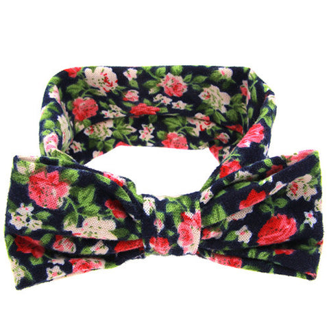 The Sophia Headband (Black Floral)