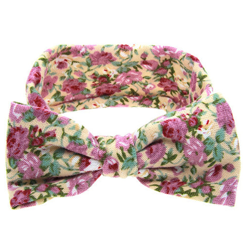 The Sophia Headband (Yellow Floral)
