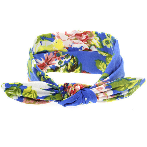 The Isabella Headband (Blue Floral)