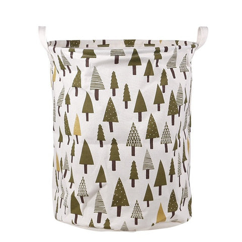 Cotton Linen Laundry Basket / Storage Organizer (Forest)